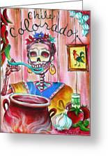 Chile Colorado Greeting Card by Heather Calderon