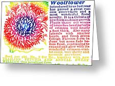 Chinese Woolflower Greeting Card by Eric Edelman