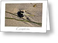 Chopsticks Greeting Card by Peter Tellone