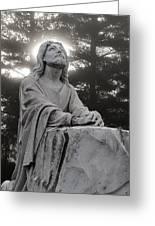 Christ At Prayer Greeting Card by Robert  Suits Jr