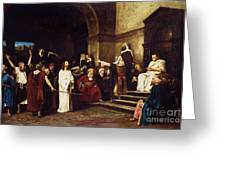 Christ Before Pilate Greeting Card by Mihaly Munkacsy