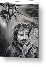 Christ Greeting Card by Carla Carson