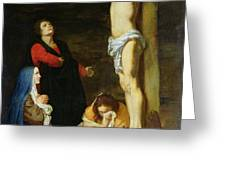 Christ on the Cross Greeting Card by Gerard de Lairesse