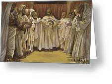Christ With The Twelve Apostles Greeting Card by Tissot