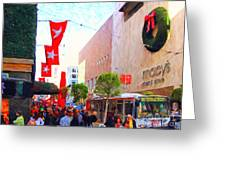 Christmas At Macys In San Francisco . Photoart Greeting Card by Wingsdomain Art and Photography