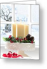 Christmas Candles Display Greeting Card by Amanda Elwell
