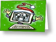 Christmas Office Party Greeting Card by Kevin Middleton