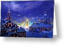Christmas Town Greeting Card by Philip Straub