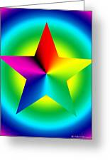 Chromatic Star With Ring Gradient Greeting Card by Eric Edelman
