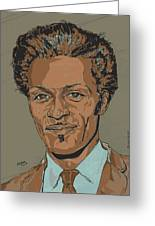 Chuck Berry - Brown-eyed Handsome Man  Greeting Card by Suzanne Gee