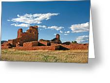 Church Abo - Salinas Pueblo Missions Ruins - New Mexico - National Monument Greeting Card by Christine Till