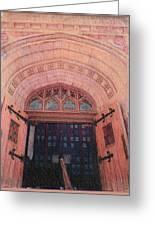 Church Doors Greeting Card by Kenny King