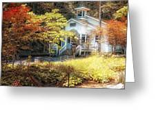 Church in the Woods Greeting Card by Gina Cormier