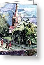 Church Of William Shakespeare Greeting Card by Mindy Newman