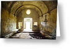 Church Ruin Greeting Card by Carlos Caetano