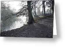 Churchyard Trees Greeting Card by Rod Johnson