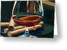 Cigars And Brandy Greeting Card by Christopher Mize