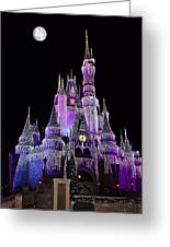 Cinderellas Castle At Night Greeting Card by Carmen Del Valle