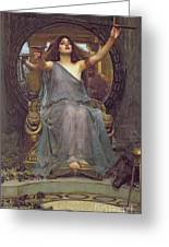 Circe Offering The Cup To Ulysses Greeting Card by John Williams Waterhouse