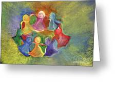 Circle Of Friends Greeting Card by Susan Vannelli