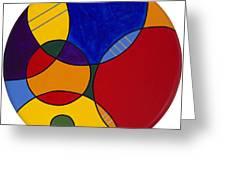 Circles Abstract 1 Greeting Card by Patty Vicknair