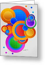 Circles Greeting Card by Anthony Caruso