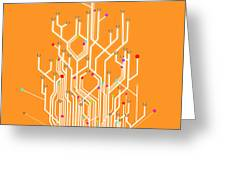Circuit Board Graphic Greeting Card by Setsiri Silapasuwanchai