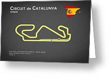 Circuit de Catalunya Greeting Card by Mark Rogan