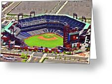 Citizens Bank Park Phillies Greeting Card by Duncan Pearson