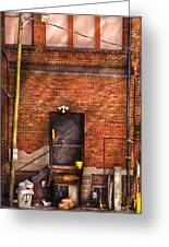 City - Door - The Back Door  Greeting Card by Mike Savad