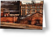 City - Ny - New York History Greeting Card by Mike Savad