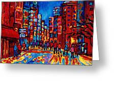 City After The Rain Greeting Card by Carole Spandau