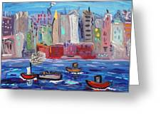 City City City Greeting Card by Mary Carol Williams