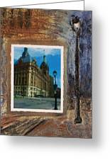 City Hall And Street Lamp Greeting Card by Anita Burgermeister
