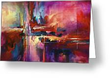 'CITY of FIRE' Greeting Card by Michael Lang