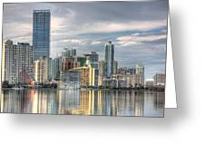 City Of Miami Greeting Card by William Wetmore