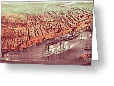 City Of New Orleans Greeting Card by Currier and Ives