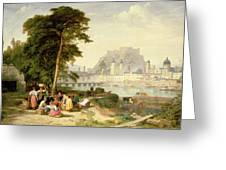 City of Salzburg Greeting Card by Philip Hutchins Rogers