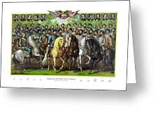 Civil War Generals And Statesman With Names Greeting Card by War Is Hell Store
