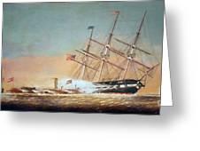 Civil War Merrimack 1862 Greeting Card by Granger