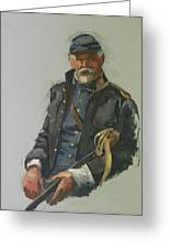 Civil War Officer Greeting Card by Mary McInnis