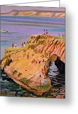 Clam Rock Evening Greeting Card by Donald Maier