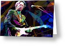 Clapton Live Greeting Card by David Lloyd Glover