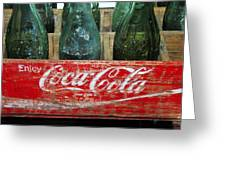 Classic Coke Greeting Card by David Lee Thompson