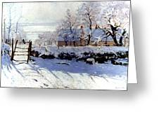 Claude Monet: The Magpie Greeting Card by Granger
