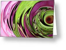 Clematis Eye Greeting Card by Linnea Tober