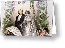 CLEVELANDS WEDDING, 1886 Greeting Card by Granger