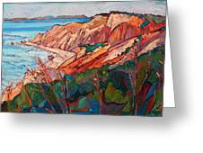 Cliffs In Color Greeting Card by Erin Hanson