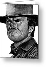 Clint Eastwood Greeting Card by Bill Richards