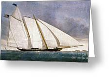 Clipper Yacht America Greeting Card by Granger